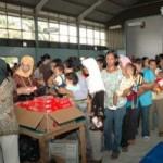 400 Balita Minas Jaya Terima Makanan Tambahan