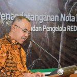 Penandatanganan Nota Kesepahaman Implementasi REDD+ Badan Pengelola REDD+ Dengan Pemerintah