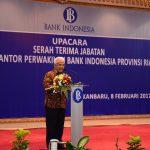 Sertijab Kepala Kantor Perwakilan Bank Indonesia Provinsi Riau
