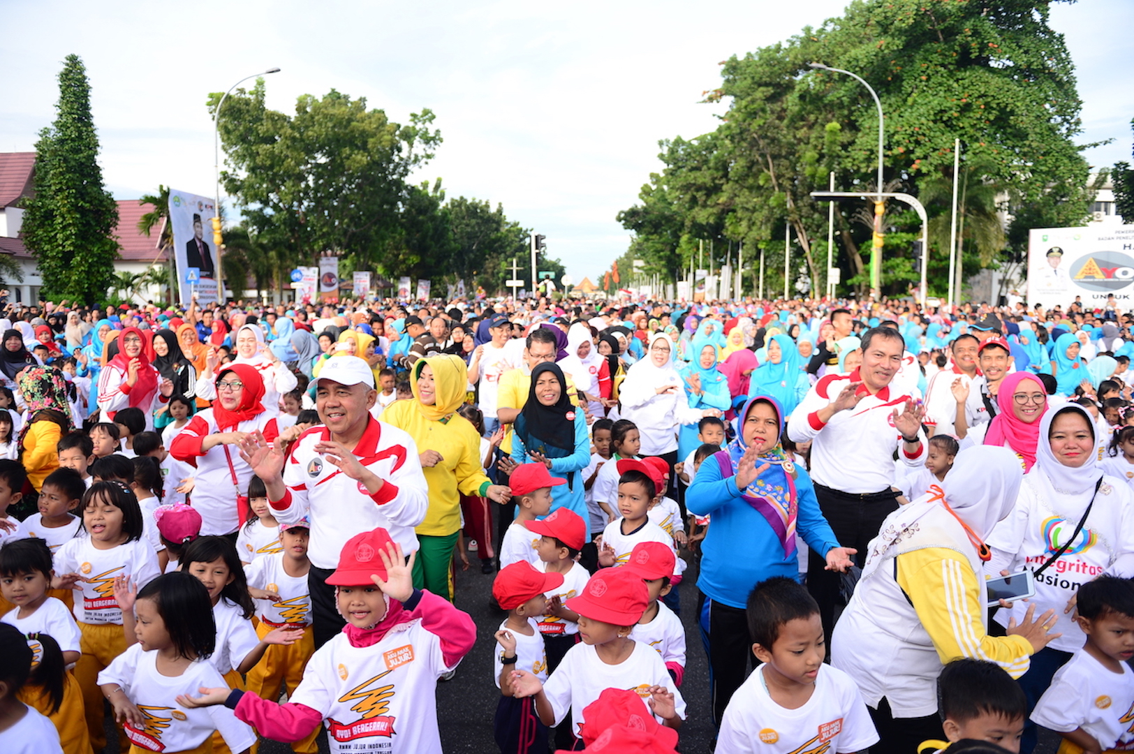 Gubri, Wakil Ketua KPK RI ikuti Senam Anak Jujur dalam Rangka Festival HAKI Bidang Pendidikan di CFD Jl Diponegoro