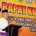 Rakor Kepala SMA/SMK, SLB Negeri dan Swasta,Pengawas Se Provinsi Riau Tahun 2016
