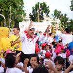 Senam Anak Jujur dalam Rangka Festival HAKI Bidang Pendidikan