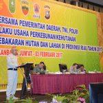Komitmen Bersama Pemerintah Daerah, TNI, POLRI dengan Pelaku Usaha Perkebunan/Kehutanan