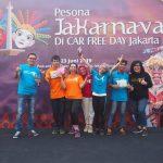 Jakarnaval 2019 hadir di Car Free Day (CFD) Jakarta.