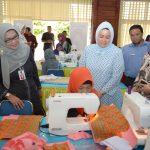 Ibu Gubri Tinjau Pelatihan Keterampilan Disabilitas Masyarakat Ekonomi Lemah Tahap II