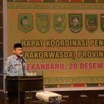 Sekda Prov Riau Hadir sekaligus membuka Pembukaan Rakorwasda Provinsi Riau Tahun 2016