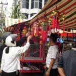 Suasana Merah Mulai Selimuti Kawasan Pasar Bawah Pekanbaru