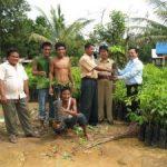 Riaupulp Serahkan 3000 Bibit Karet Untuk Kebun Desa Penarikan