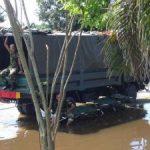Tim Yustisi Bantu Korban Banjir di Rumbai