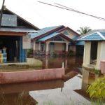 Sebuah Rumah Mewah di Rumbai Sudah Sebulan Terendam Banjir