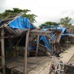 90 Persen Pondok Jagung di Bawah Jembatan Siak I Rusak Berat